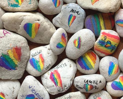 Gütsel-Stones mit Vielfalt-Herz