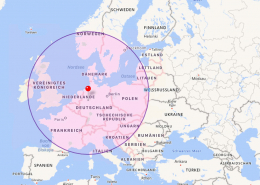 Europalauf Karte