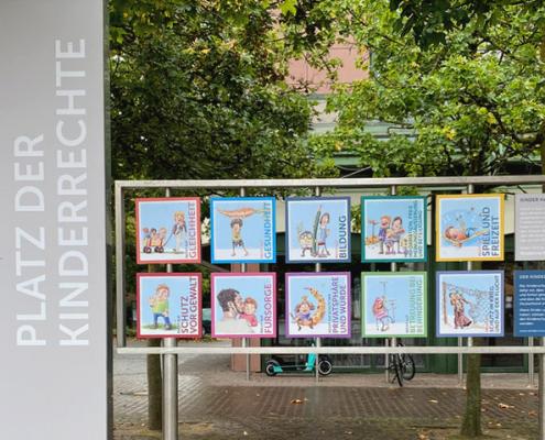 Platz der Kinderrechte - interaktive Installation
